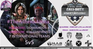 Athena Alliance Call of Duty Women's Gaming Invitational article on The Fantasy Network News