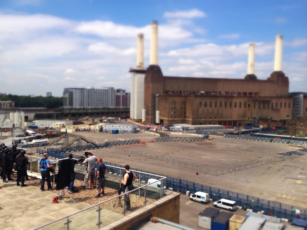 Roof terrace, Battersea Power Station - featured in indie sci-fi film Cognition, article in The Fantasy Network News