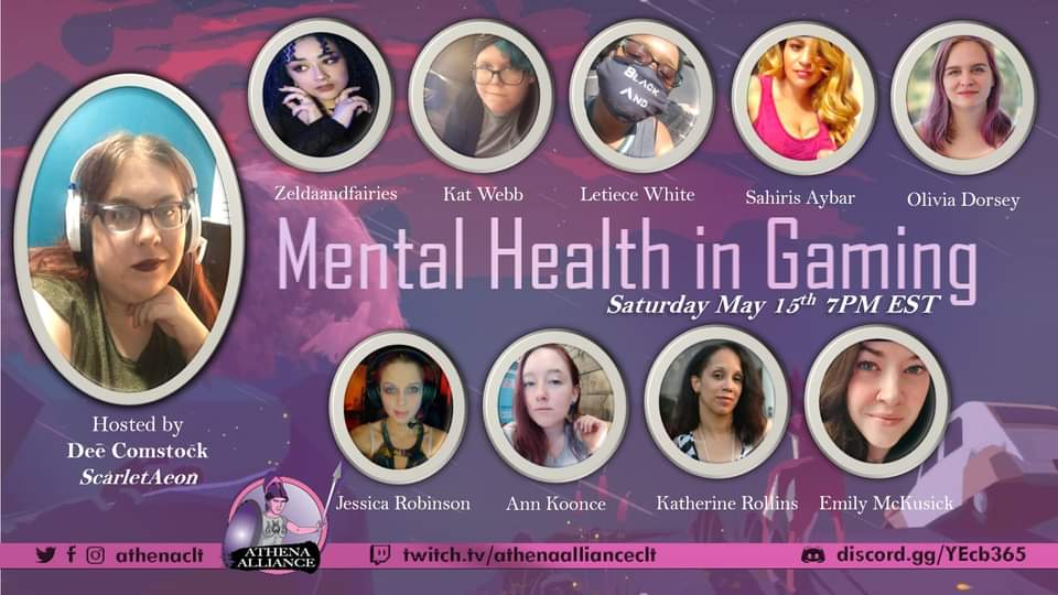 Mental Health in Gaming by Athena Alliance CLT - read about it on The Fantasy News